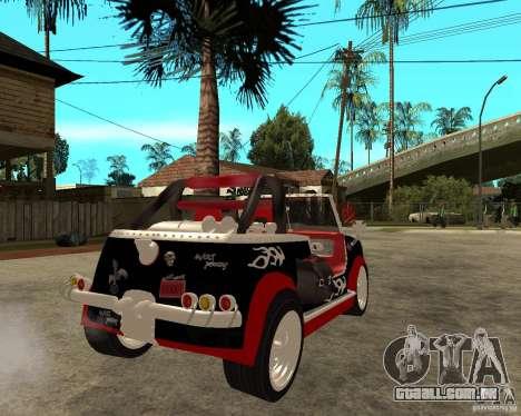 MiniCooper Tuning HOVADO 1 (MaxiPervers.cz) v.2 para GTA San Andreas traseira esquerda vista