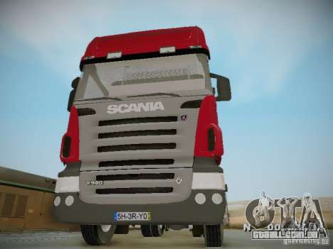 Scania R580 Topline para GTA San Andreas vista interior