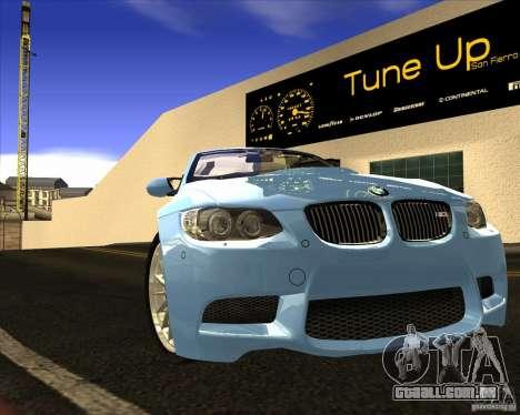 BMW M3 Convertible 2008 para GTA San Andreas vista interior