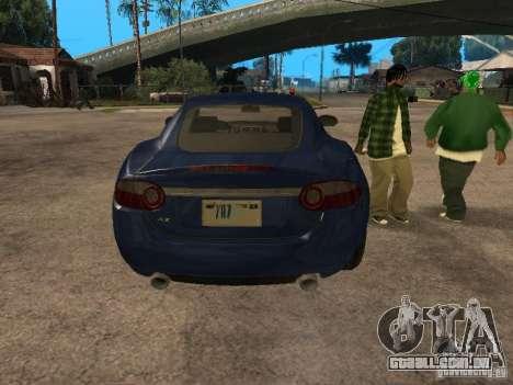 Jaguar XK para GTA San Andreas vista traseira