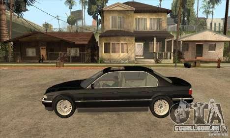 BMW E38 750IL para GTA San Andreas esquerda vista