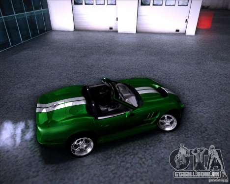 Shelby Series One 1998 para GTA San Andreas vista superior