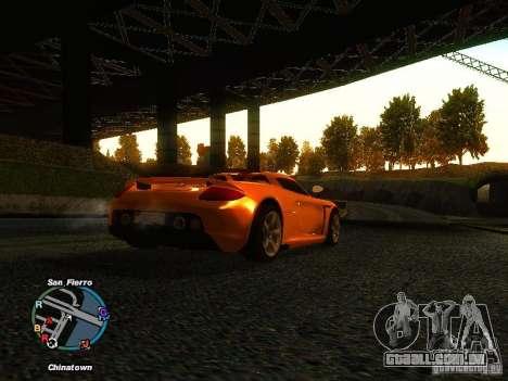 Porsche Carrera GT 2003 para GTA San Andreas traseira esquerda vista