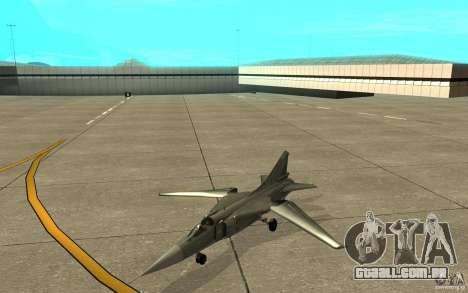 MiG-23 para baixo o Flogger para GTA San Andreas esquerda vista