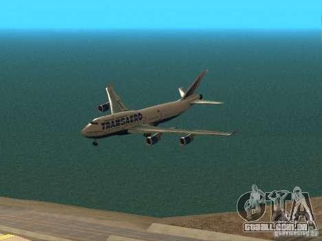 Boeing 747-400 para GTA San Andreas vista superior