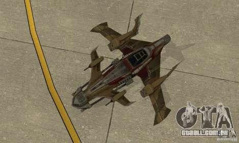 Hydra TimeShift Skin 1 para GTA San Andreas vista traseira