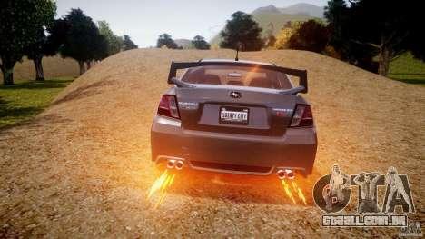 Subaru Impreza WRX STi 2011 para GTA 4 rodas