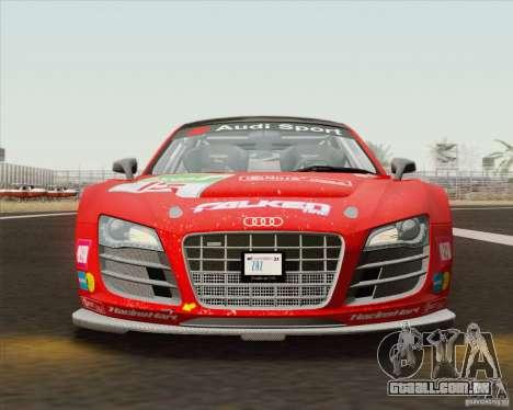 Audi R8 LMS v2.0.1 para GTA San Andreas vista interior