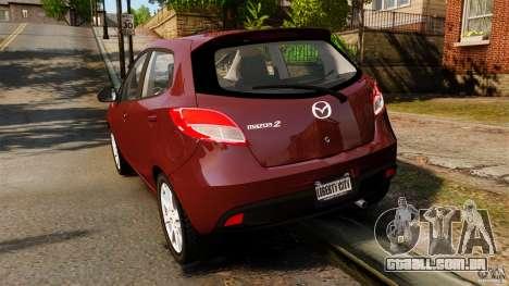 Mazda 2 2011 para GTA 4 traseira esquerda vista