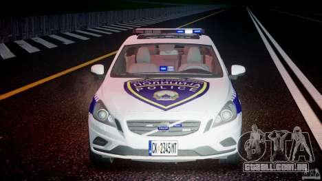 Volvo S60 Macedonian Police [ELS] para GTA 4 vista superior