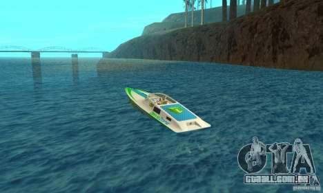 Speed Motorboat para GTA San Andreas traseira esquerda vista