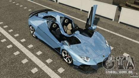 Lamborghini Aventador J 2012 para GTA 4 vista superior