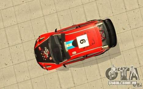 Ford Focus RS WRC 08 para o motor de GTA San Andreas