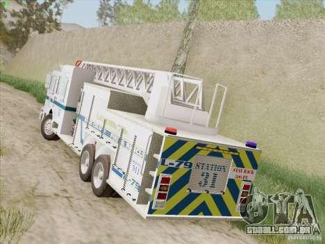 Pierce Puc Aerials. Bone County Fire & Ladder 79 para GTA San Andreas vista direita