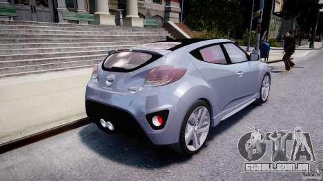 Hyundai Veloster Turbo 2012 para GTA 4 traseira esquerda vista