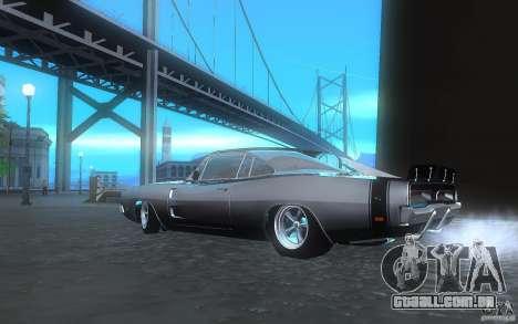 Dodge Charger RT 69 para GTA San Andreas traseira esquerda vista