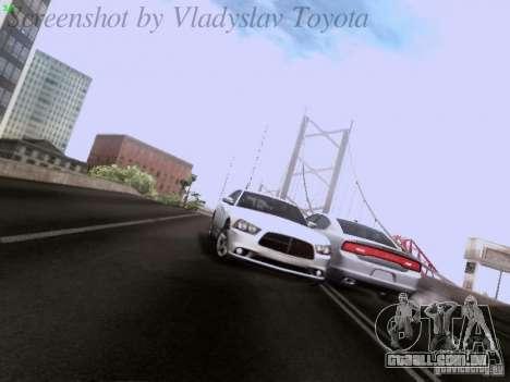 Dodge Charger 2013 para GTA San Andreas vista inferior