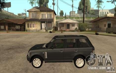 Range Rover Supercharged 2008 para GTA San Andreas esquerda vista