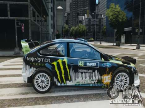Ford Focus RS WRC para GTA 4 vista direita