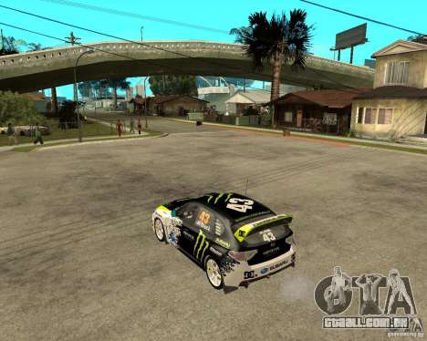 Ken Block Subaru Impreza WRX STi 2009 para GTA San Andreas esquerda vista