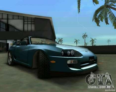 Toyota Supra para GTA Vice City vista direita