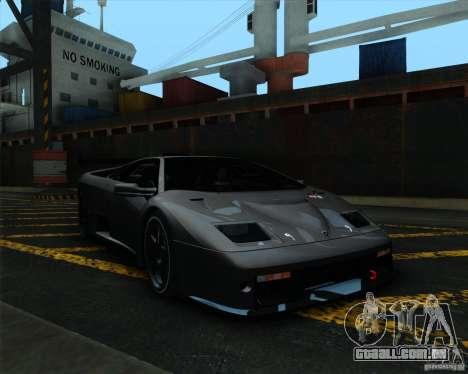Lamborghini Diablo GTR V1.0 1999 para GTA San Andreas esquerda vista