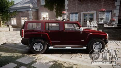 Hummer H3 para GTA 4 esquerda vista