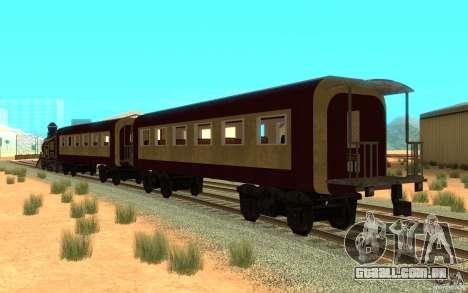 Locomotive para GTA San Andreas traseira esquerda vista