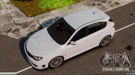Subaru Impreza Cosworth STI CS400 2010 v1.2 para GTA 4 vista direita