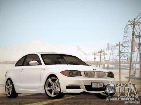 BMW 135i para GTA San Andreas esquerda vista