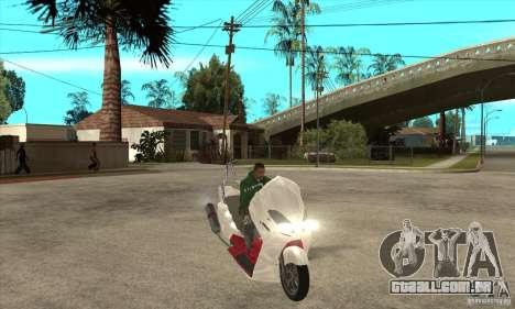Honda Forza para GTA San Andreas vista traseira