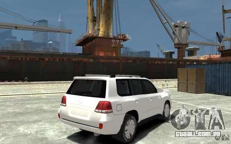 Toyota Land Cruiser 200 para GTA 4 vista direita