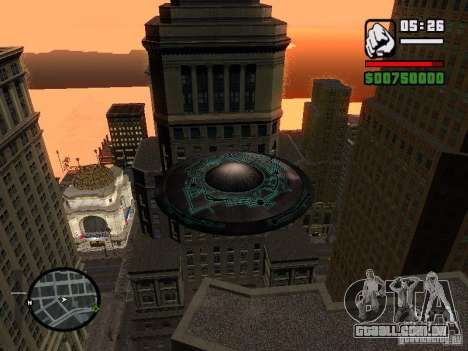 UFO para GTA San Andreas vista direita