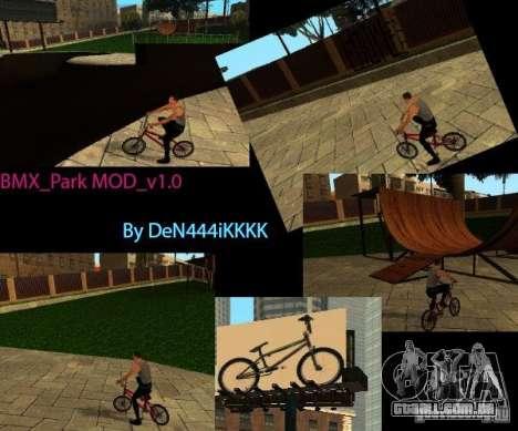 BMX_Park MOD_v 1.0 para GTA San Andreas