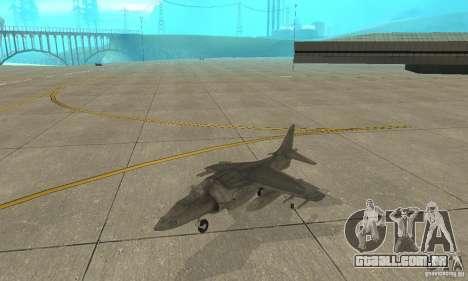 AV-8 Harrier para GTA San Andreas