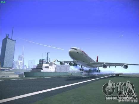 Airbus A340-300 Swiss International Airlines para GTA San Andreas vista superior