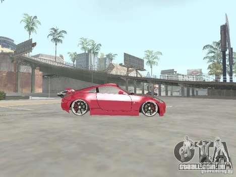 Nissan 350Z v2 para GTA San Andreas esquerda vista