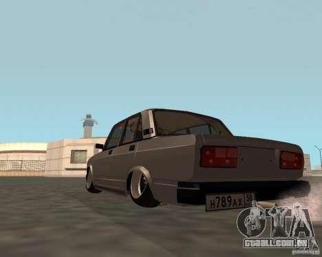 JDM VAZ 2107 para GTA San Andreas esquerda vista