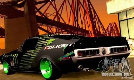 Shelby GT500 Monster Drift para as rodas de GTA San Andreas