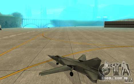 MiG-23 para baixo o Flogger para GTA San Andreas vista direita