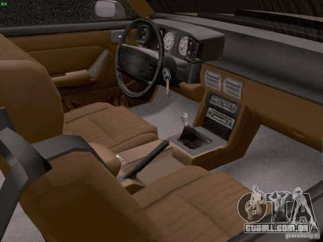 Ford Mustang GT 5.0 Convertible 1987 para GTA San Andreas vista interior