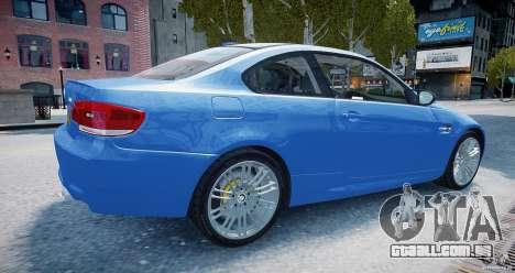 BMW M3 E92 2008 v.2.0 para GTA 4 esquerda vista