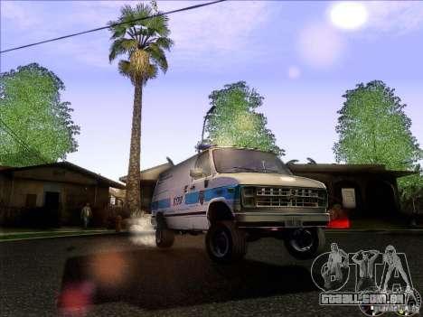 Chevrolet VAN G20 NYPD SWAT para vista lateral GTA San Andreas