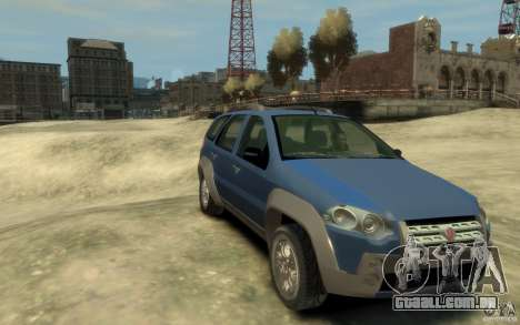 Fiat Palio Adventure Locker para GTA 4 vista de volta