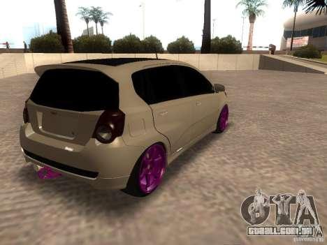 Chevrolet Aveo Tuning para GTA San Andreas esquerda vista
