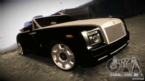 Rolls Royce Phantom Drophead Coupe 2007 V1.0 para GTA San Andreas vista traseira