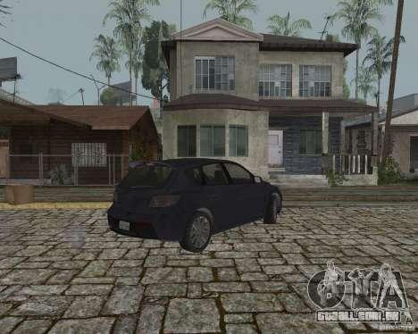 Mazda Speed 3 para GTA San Andreas traseira esquerda vista