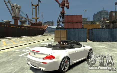BMW M6 Convertible para GTA 4 vista direita