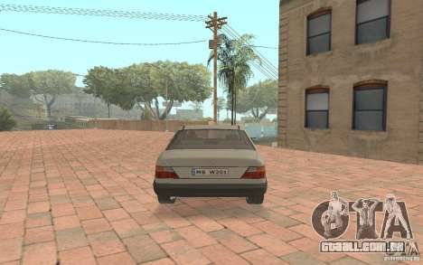 Mercedes-Benz E200 W124 para GTA San Andreas vista direita