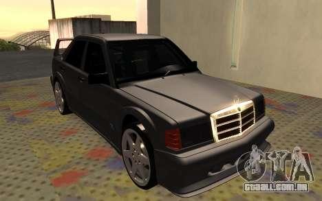Mercedes-Benz 190E Evolution II 2.5 1990 para GTA San Andreas esquerda vista